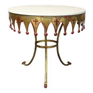 Italian Gilt Decorated Occasional Table For Sale