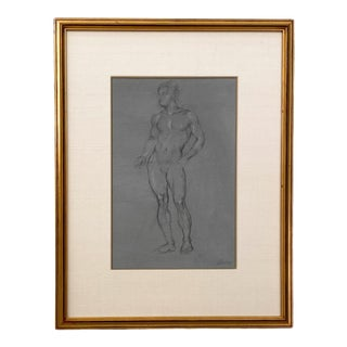 Vintage Academic Drawing, Circa 1960 For Sale
