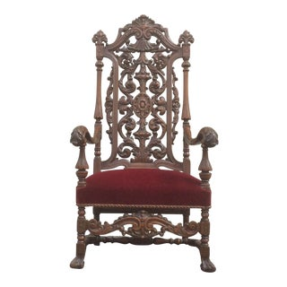 Jacobean Style Chair For Sale
