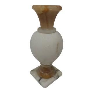 Vintage Marble Pedestal Bud VaseVintage Marble Pedestal VaseBud For Sale