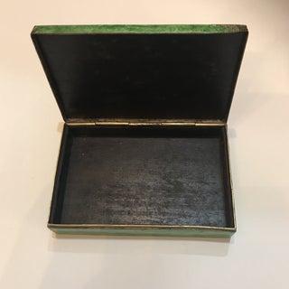 Vintage Chinese Enamel Brass Cigarette Box Preview