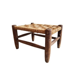 Small Vintage Wooden Bench For Sale