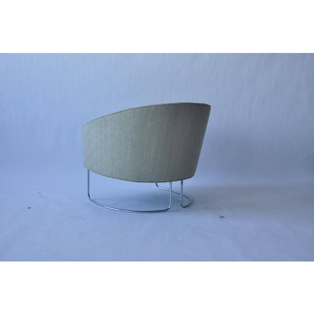 1960s Chrome Base Curved Lounge Chairs For Sale - Image 4 of 6