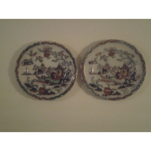 Antique Polychrome Decorated Plates - A Pair - Image 7 of 7