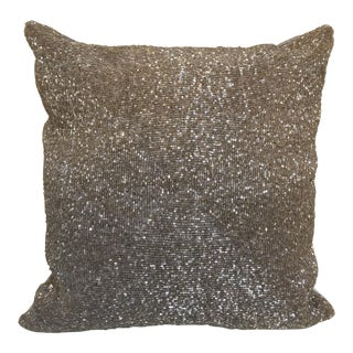 Pewter Beaded Pillow
