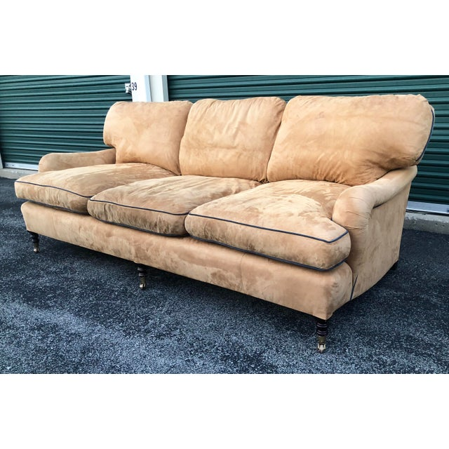 English George Smith Loose Back Standard Arm Sofa For Sale - Image 3 of 8