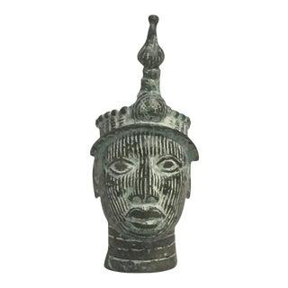 Antique African Bronze Head For Sale