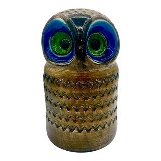 1960s Vintage Aldo Londi for Raymor Bitossi Pottery Owl Figurine For Sale