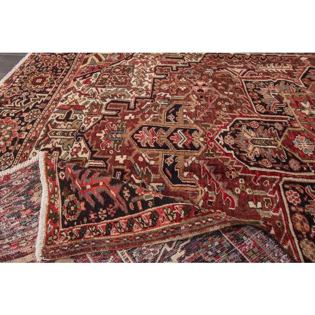 "Apadana - Vintage Persian Heriz Rug, 9'2"" x 11'6"" For Sale In New York - Image 6 of 7"