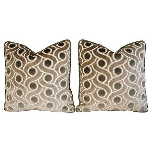 Osborne & Little Cut Velvet Pillows- A Pair - Image 7 of 7