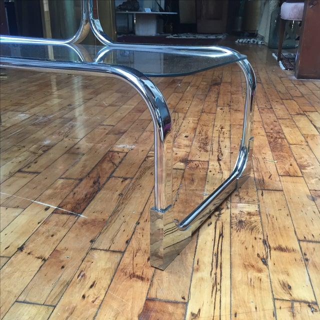 Italian Chromed Steel Etagere by Tricom - Image 5 of 5