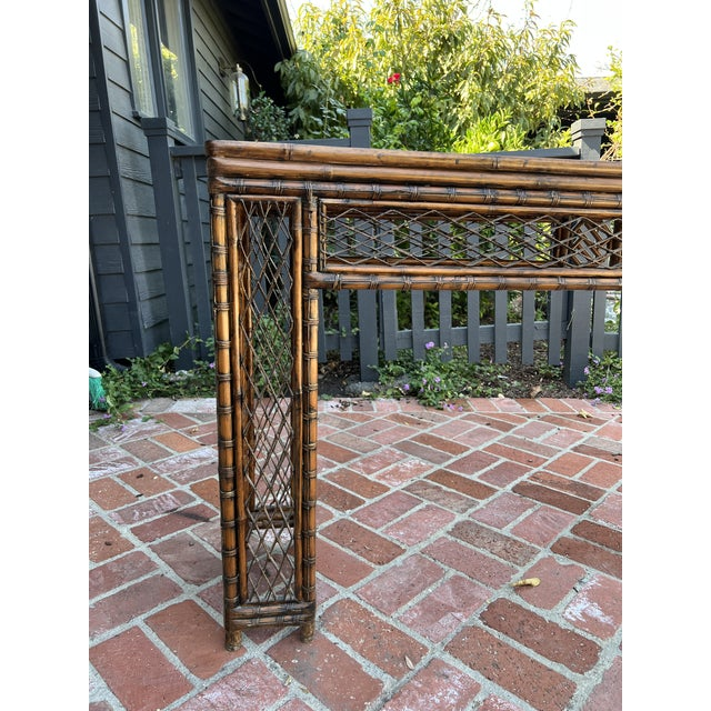 Antique Bamboo Chinoiserie Console For Sale In Los Angeles - Image 6 of 12