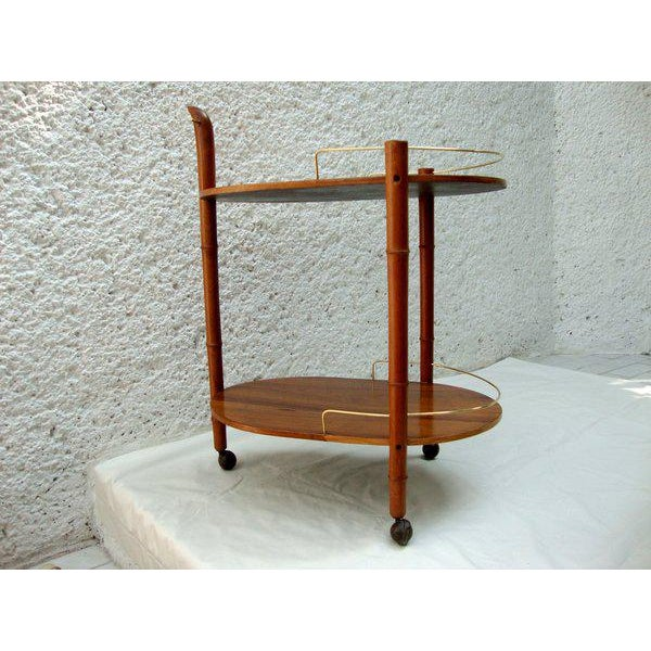 Mid-Century Modern Mexican Modernist Service Cart For Sale - Image 3 of 5