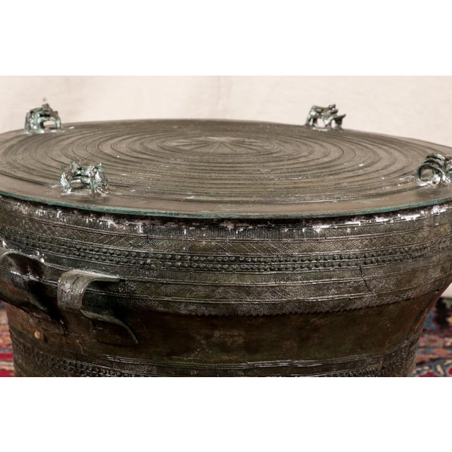 South Asian Bronze Rain Drum Table For Sale - Image 4 of 10