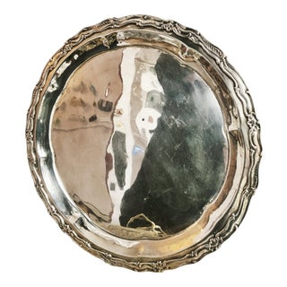 Antique 1893 Silver Plated Tray From the Waldorf Hotel Nyc For Sale