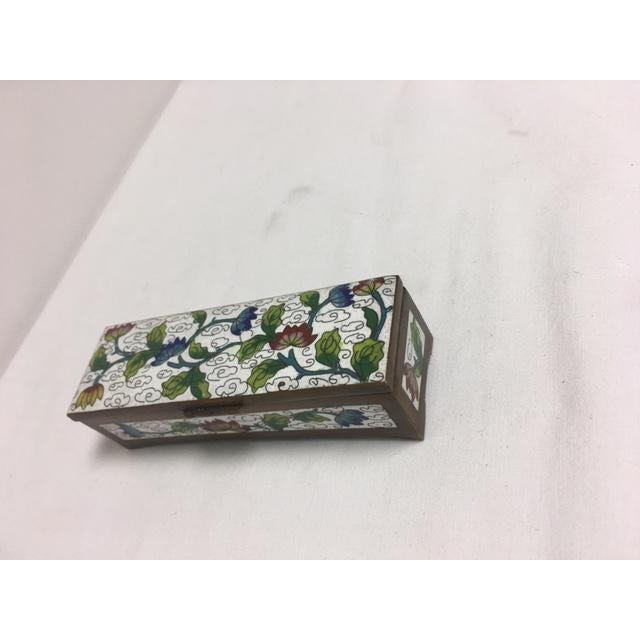 Antique Cloisonne Stamp Box - Image 8 of 8