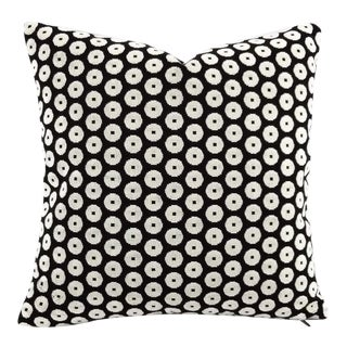 Cowtan and Tout Luna in Noir Grospoint Velvet Pillow Cover For Sale