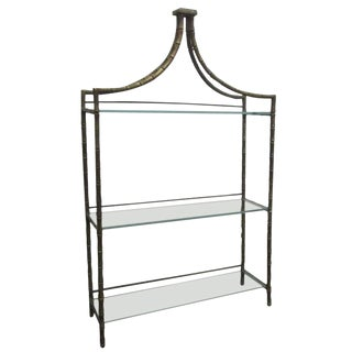 French Faux Bamboo Bronze Shelf For Sale