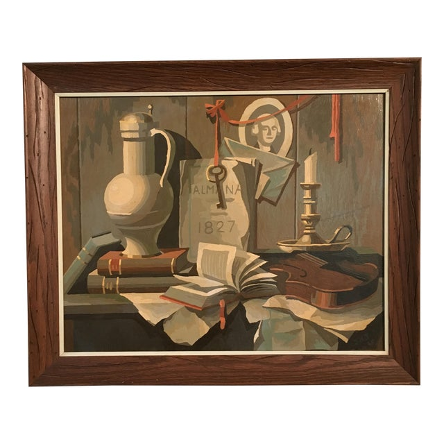 1968 Still Life Paint by Number Framed Painting - Image 1 of 6