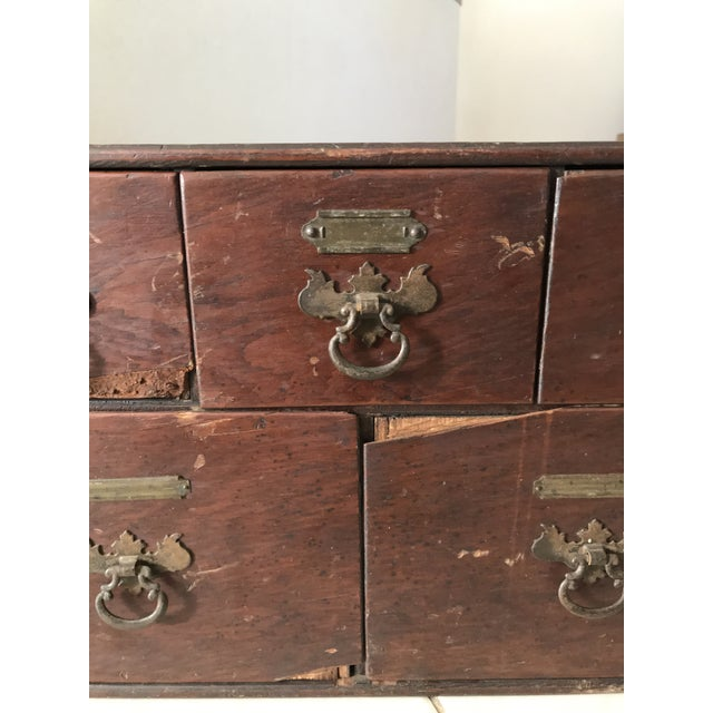 Antique 18th Chippendale Card File Cabinet Trunk For Sale - Image 11 of 13