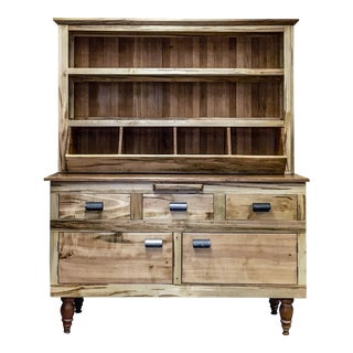 Lodge Style Maple and Oak Farmhouse Hutch