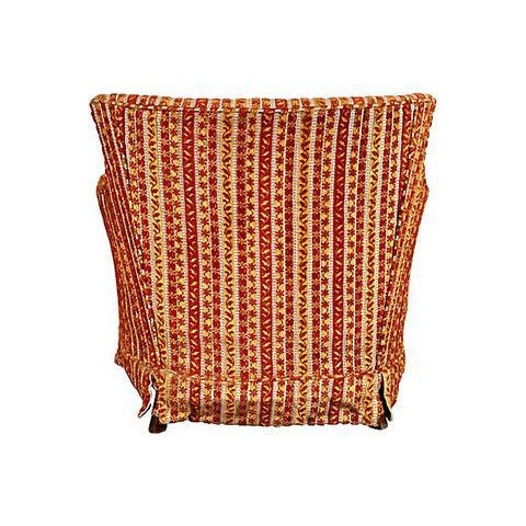 1950s Striped Fabric Lounge Chair - Image 3 of 5