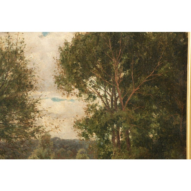 19th Century Landscape Painting of Bridges over Stream by Clarence Roe - Image 5 of 10