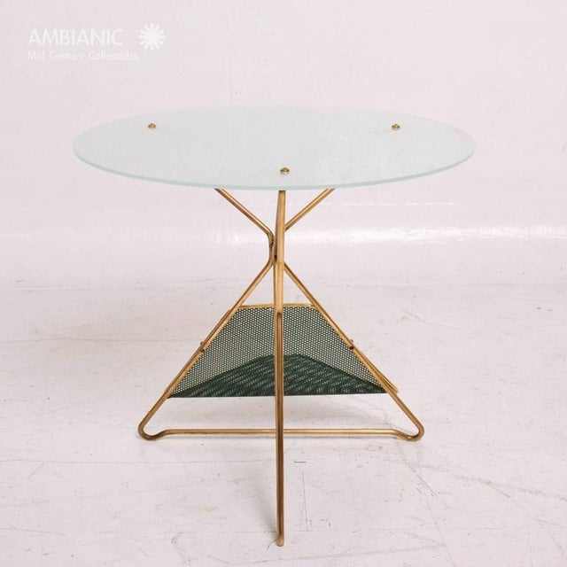 Mid-Century Modern Italian Table With Magazine Holder For Sale - Image 4 of 9