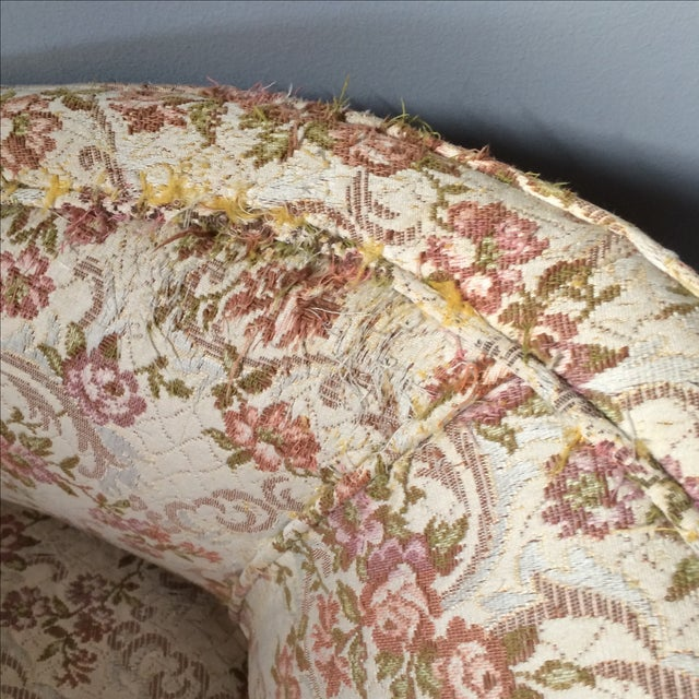 Petite Floral Club Chairs - A Pair - Image 9 of 9