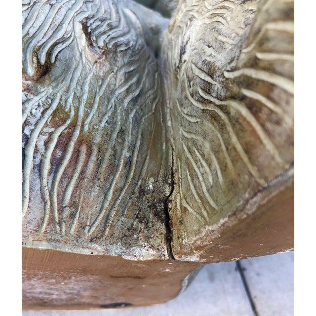 Large Bronze Finish Monkey Planter For Sale - Image 11 of 12