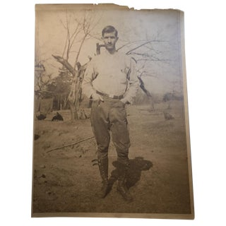 Antique Portrait of a Farmer in High Boots
