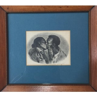 """Mid-Century 1948 """"Kiss"""" Framed Lithograph by Joseph Hirsch For Sale"""