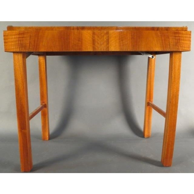 Wood Mid-Century Modern Kunst-Mobel Folding Table For Sale - Image 7 of 13