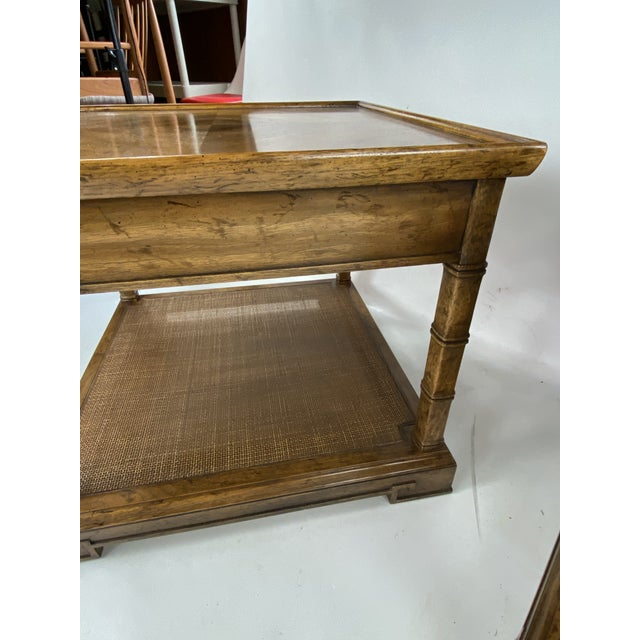 1960s Drexel Heritage Asian Style Side Tables - a Pair For Sale - Image 9 of 13