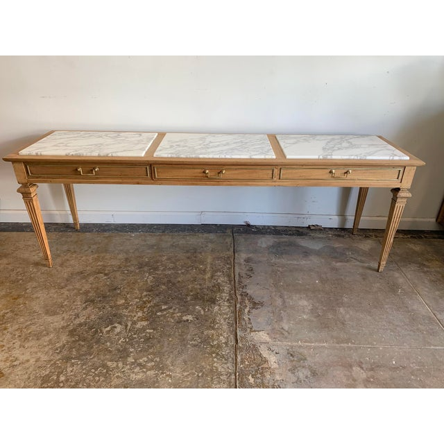 Traditional Sofa Console with Marble Top For Sale - Image 10 of 10