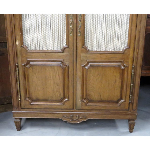 Auffray Country French armoire with 1 shelf, 8 storage cubes, and 6 drawers.