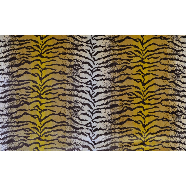 Gorgeous Silk Velvet Fabric in Tigre (Tiger) Pattern. The color-way is an original ivory, beige, gold, and brown. This...