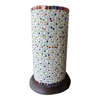 Hand Crafted Mosaic Table Lantern For Sale