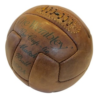 1924 The Wembley Match Leather Soccer Ball