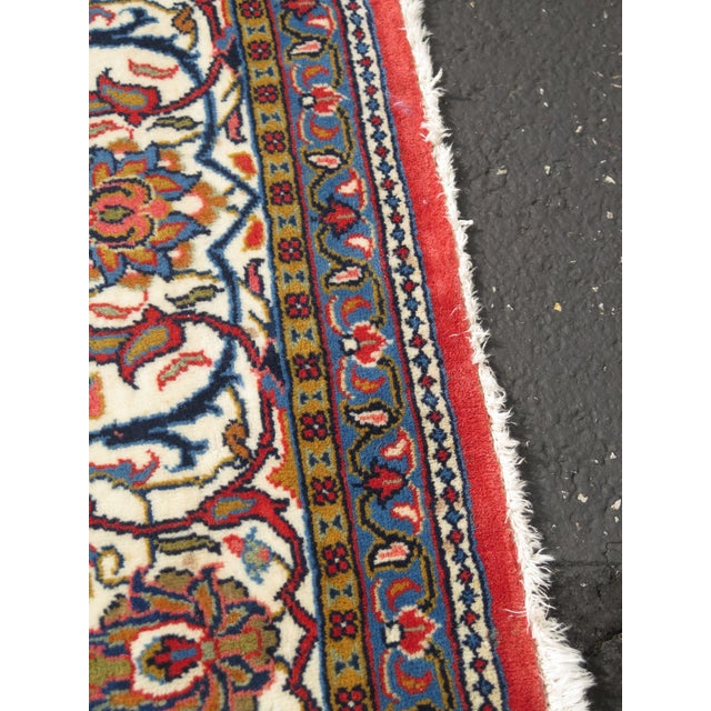 Vintage Sarouk Pattern Approx. 8 x 11.5 Room Size Rug. Nearly 30 Years Old Details: High Quality Tight Hand Woven Knot...