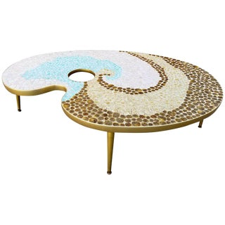 Mosaic Tile Coffee Table Artist Palette For Sale