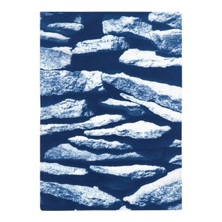"""2021 """"Flat Stone Stack"""" Contemporary Limited Edition Cyanotype by Kind of Cyan For Sale"""