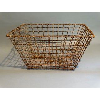 Vintage French Wire Oyster Basket With Handles Preview