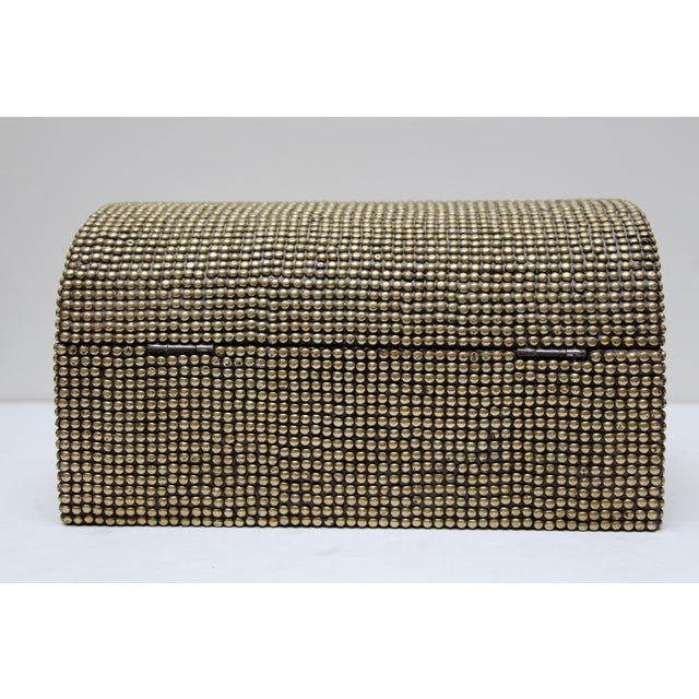 Brass Studded Tabletop Trunk - Image 6 of 9