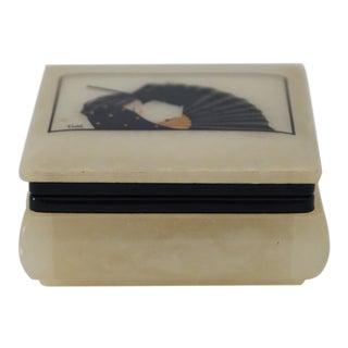 Vintage Italian Alabaster Trinket Box For Sale