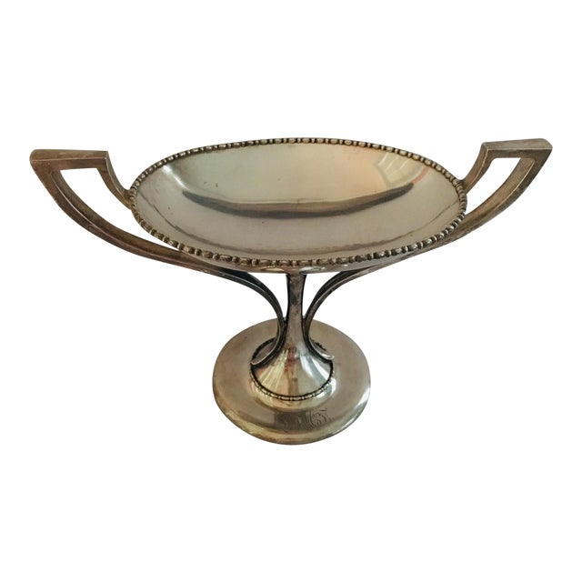 1930s Sterling Twin Handled Center Piece, 1.14 Lb of Silver For Sale