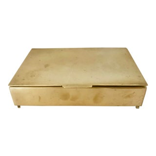 Sleek Solid Brass Box For Sale