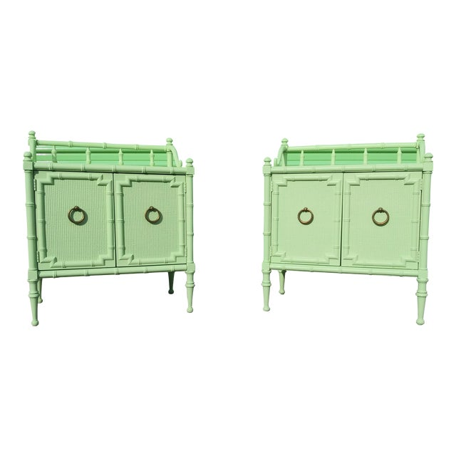 1950s Vintage Nightstands the Kensington Collection -A Pair For Sale