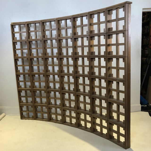 Mid-Century Modern 1960s Mid Century Modern Solid Wood Room Divider / Screen For Sale - Image 3 of 13