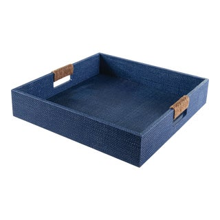 Logia Square Tray Large in Indigo For Sale